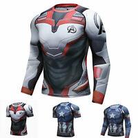 Men's Marvel The Avengers Shirts Endgame 3D Print Quick-dry Top Compression Wear