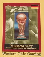 1994 FIFA World Cup USA 94 The Upper Deck Company Salutes Germany Soccer Card