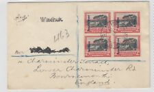 More details for south west africa 1929 windhoek cover to england sg50 block   j4829