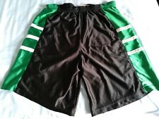Vintage Rare Men's Basketball Dazzle Shorts Satin Shiny Glanz Black Green