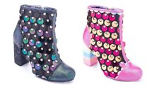 Irregular Choice ''Good To Go'' High Heel Zip Up Winter Ankle Boots Shoes