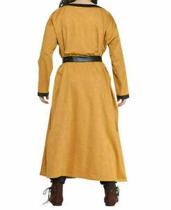MEDIEVAL Yellow Tunic Surcoat Short Renaissance SCA LARP with Normal Belt