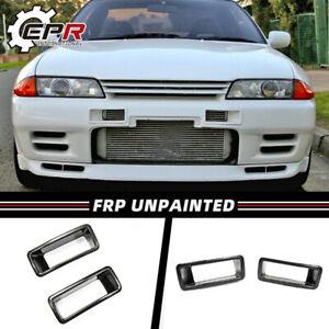 For Nissan R32 GTR NSM N1 Style FRP Unpainted Front Bumper Vent Air Duct Trim