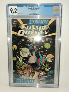 DC Cosmic Odyssey #1 Cgc 9.2 White Pages Starlin Mignola FREE SHIPPING 1988