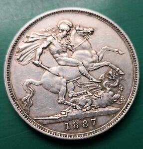 1887 Victoria 925 silver crown nice condition #323