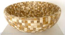 Waschschale Travertin Mosaik Mix Naturstein Antikmarmor 41x41x15 cm Waschbecken
