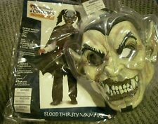 NEW Halloween Blood Thirsty Vampire  California Costume Mask Child Large 10 - 12