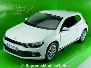 VOLKSWAGEN SCIROCCO CAR MODEL 1:24 SIZE VW WHITE COLOUR EXAMPLE T3Z