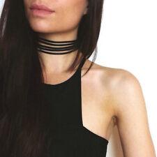 Velvet Choker Black Necklace Ribbon Vintage Gothic Goth Multilayer Collar