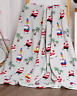 NEW Ultra Cozy & Soft Christmas Holiday Tropical Santa Plush Warm Throw Blanket