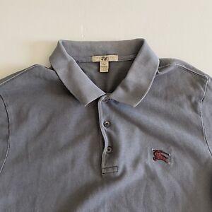 Burberry Brit Mens Large Gray S/S Cotton Polo Shirt