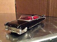 1959 Cadillac Hot wheels Hard Rock Cafe custom black  car 1/64 Damage to paint
