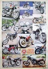 "YAMAHA MOTORCYCLES POSTER ""YAHAMA SR, 14 SHOTS"" - JAPANESE MOTORBIKES"