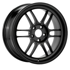 15x8 Enkei RPF1 4x100 +28 Black Rims Fits Accord Integra Civic Miata Fox
