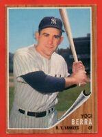 1962 Topps #360 Yogi Berra EX++ WRINKLE HOF New York Yankees FREE SHIPPING