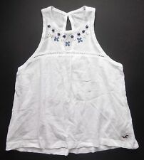 New Hollister Woods Cove Embellished White Top Womens Size X Small