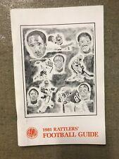 1981 FLORIDA A & M FOOTBALL   MEDIA GUIDE