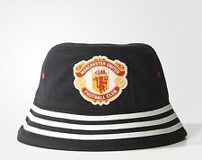 MANCHESTER UNITED Retro Bucket Hat - Black ADIDAS 2015-2016 Red Devils