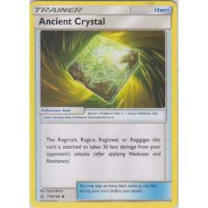 ANCIENT CRYSTAL 118/156 SM ULTRA PRISM POKEMON TRAINER CARD NEW MINT