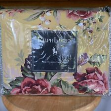 Ralph Lauren BROOKE YELLOW FLORAL Country King Duvet Comforter Cover New In Pkg