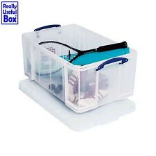64 Litre Really Useful Box Transparent Home Shelving Storage Kitchen Home New