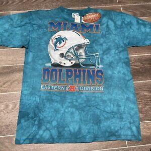 Vintage Miami Dolphins Liquid Blue T Shirt Size Large