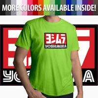 Yoshimura Hideo Pops Motorcycle USA Japan Racing Logo Mens Tee Crew Neck T-Shirt
