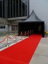 Waterproof Red Event Carpet  0.80m x 8.00m 9mm thick,  Border Edged.