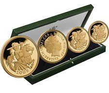 2005 Queen Elizabeth II Proof 4 Coin Gold Sovereign Set + COA
