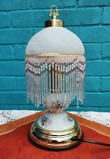 Vintage Antique Period Elegant Tiffany Glass Beaded 20s 30s  Light Lamp