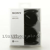 Sony MDRZX110 MDR-ZX100 Foldable Lightweight On-Ear Stereo Headphones Black NEW