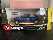 Bburago Diecast 1:24 Blue Renault 5 Turbo