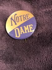 """NOTRE DAME Vintage Late 1940's 1 3/4"""" inch Pin"""