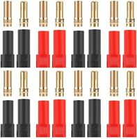 8 Pairs XT150 Connector Adapter Set Female Male Plug 6mm Gold Banana Bullet Plug