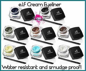 E.L.F ELF CREAM EYELINER EYE LINER WATERPROOF WATER RESISTANT SMUDGE BUDGE PROOF