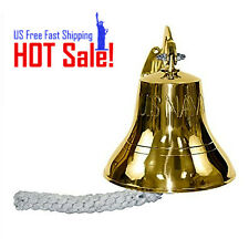 "Bell Brass Ship US Navy Indoor Outdoor Nautical 6"" Wall Mount Antique Vintage"