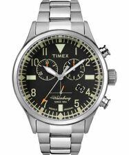 Timex Waterbury Traditional Chronograph Watch TW2R24900 Steel Bracelet New