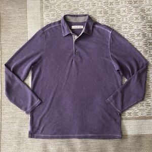 Tommy Bahama Purple Long Sleeve Polo Shirt Medium