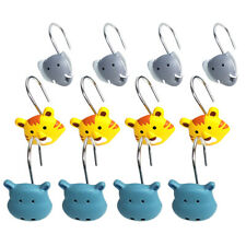 Set of 12 Cute Animals Shape Shower Curtain Hooks  Home Bathroom Decor