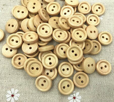 100X Wooden 2-holes buttons Round Fit sewing scrapbooking Handicrafts 13mm