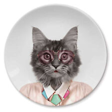 Mustard Ceramic Side Plate - Wild Dining Cat