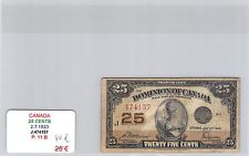 BILLET CANADA - 25 CENTS - 2.7.1923 - J474157