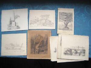 18 BLEISTIFT ZEICHNUNGEN CLOTHILDE + AGNES GERHARD TEILW. SIGNIERT 1826-27