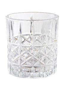Whiskeygläser 6x 300 ml B WARE Whiskygläser Tumbler mit Schliff im Kreuzmuster
