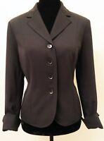 Valerie Stevens Womens Blazer Petite Size 14P Black Long Sleeve Lined Career