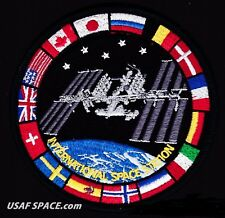 AUTHENTIC AB Emblem FLAGS - ISS - International Space Station-SPACEX NASA PATCH