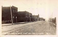 Real Photo Postcard First Avenue, looking West in East Moline, Illinois~115509