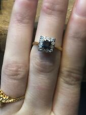 18 Carat Gold Diamond And Sapphire Ring!