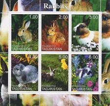 """Mignon lapin 4"""" x 4"""" tadjikistan 2000 neuf sans charnière timbre sheetlet"""