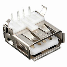 10 PCS USB Type-A Female PCB Mount Socket Plug Connector Right Angle 4 Pin R7D9